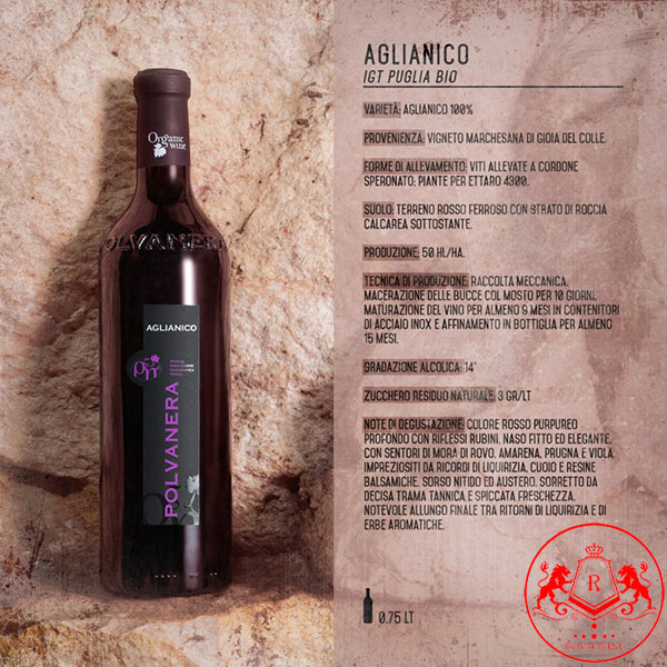 Ruou Vang Polvanera Aglianico Organic 3