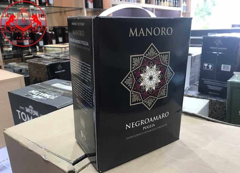 Vang Bich Manoro Negroamaro 3 Lit 2