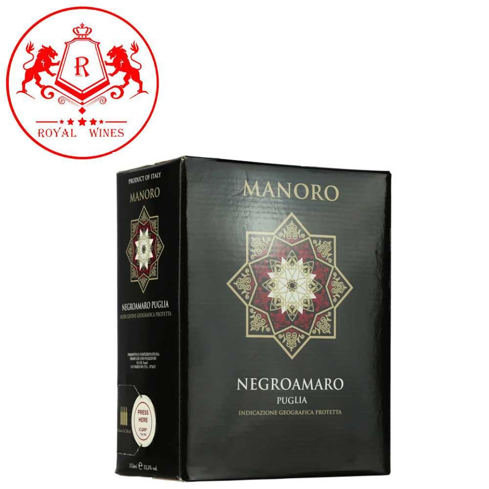 Vang Bich Manoro Negroamaro 3 Lit