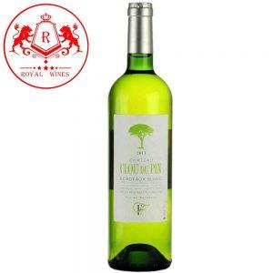 Ruou Vang Chateau Clou Du Pin Bordeaux Blanc