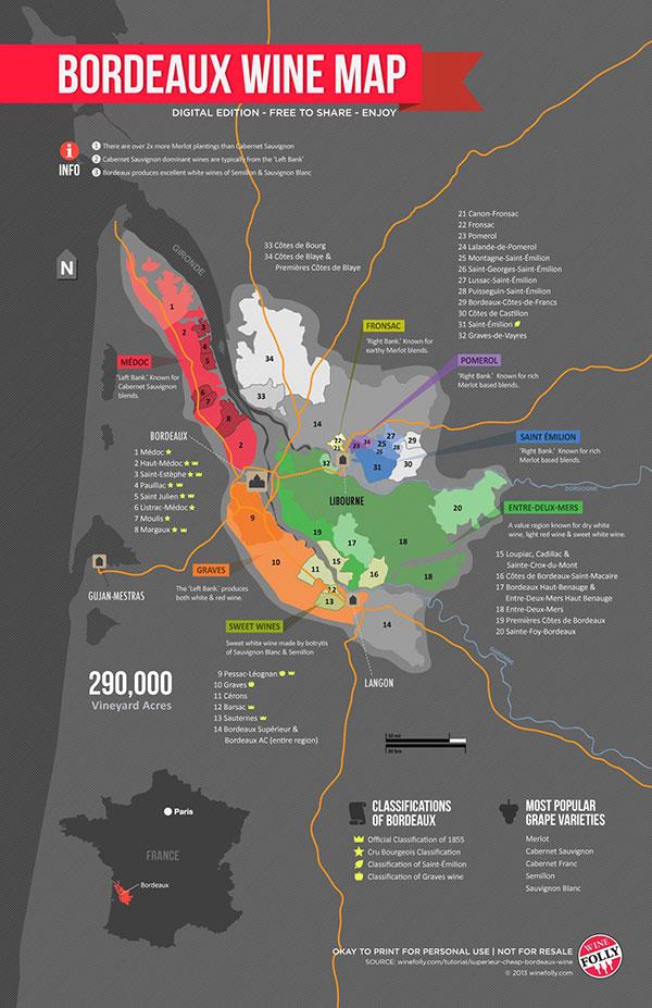 Bordeaux Wine Map