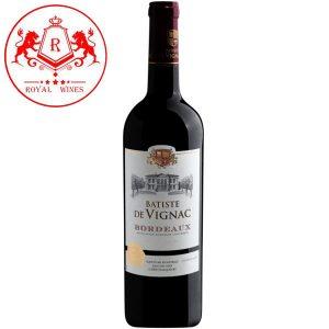 Ruou Vang Batiste De Vignac Bordeaux
