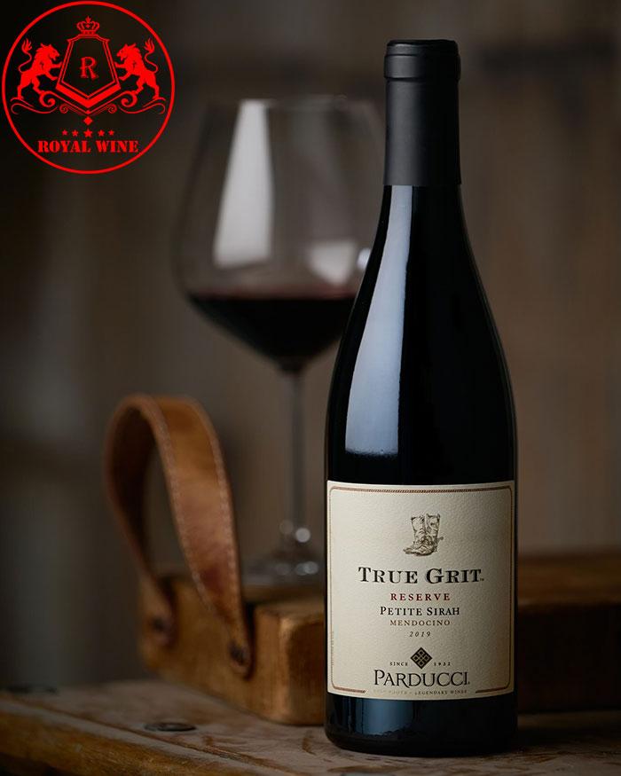 Rượu Vang True Grit Reserve Petit Sirah